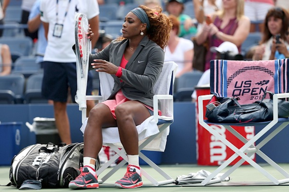 Serena is all business. (Clive Brunskill/Getty Images)