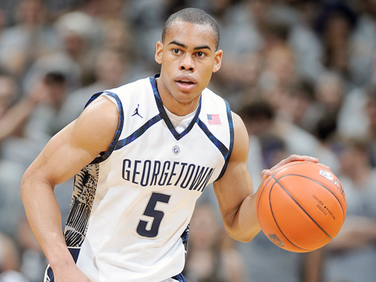 Markel Sparks and the Hoyas will compete in this year's Armed Forces Classic in South Korea. (Mitchell Layton/Getty Images).