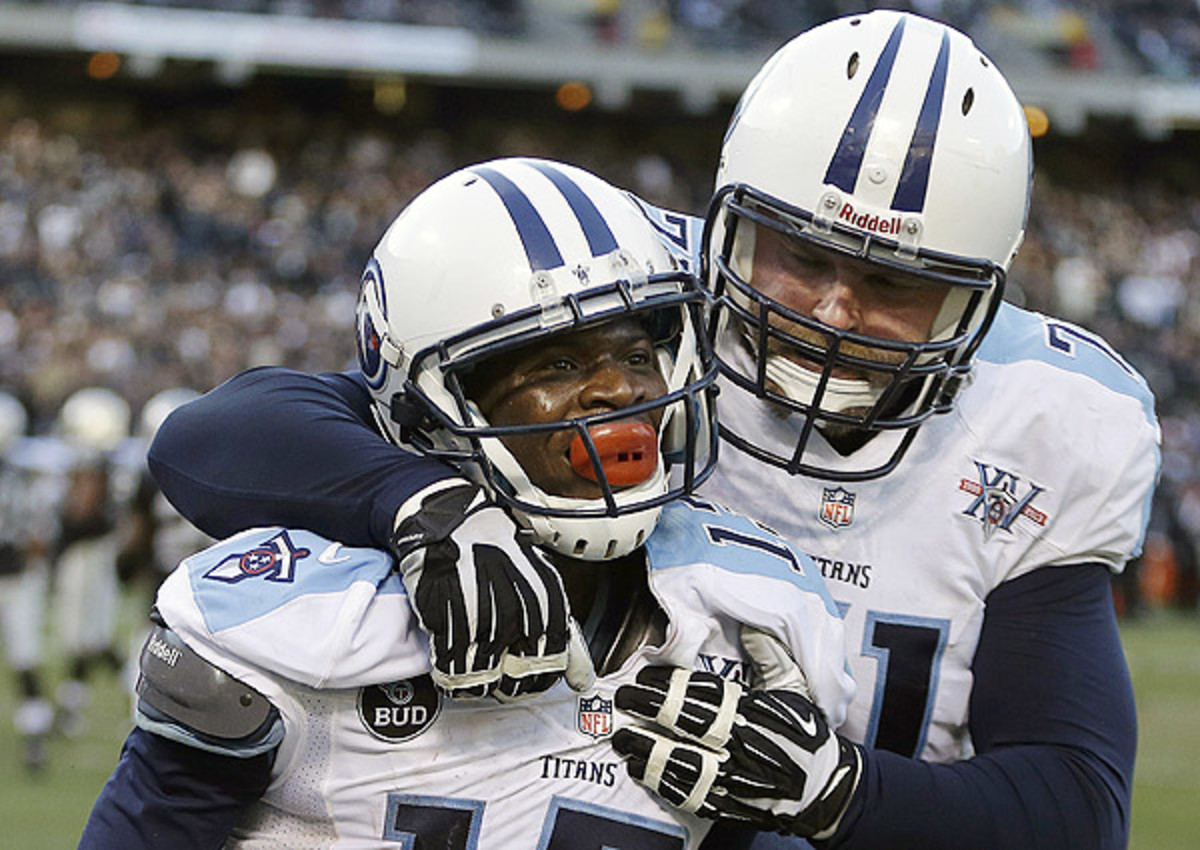 The Titans were all smiles after beating the Raiders, a win that put them in position for the AFC's No. 6 seed.