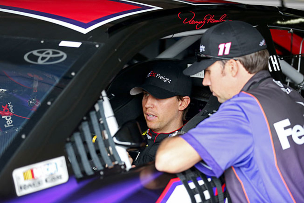 Out of the Chase, Denny Hamlin is free to gather valuable intelligence for Joe Gibbs Racing.