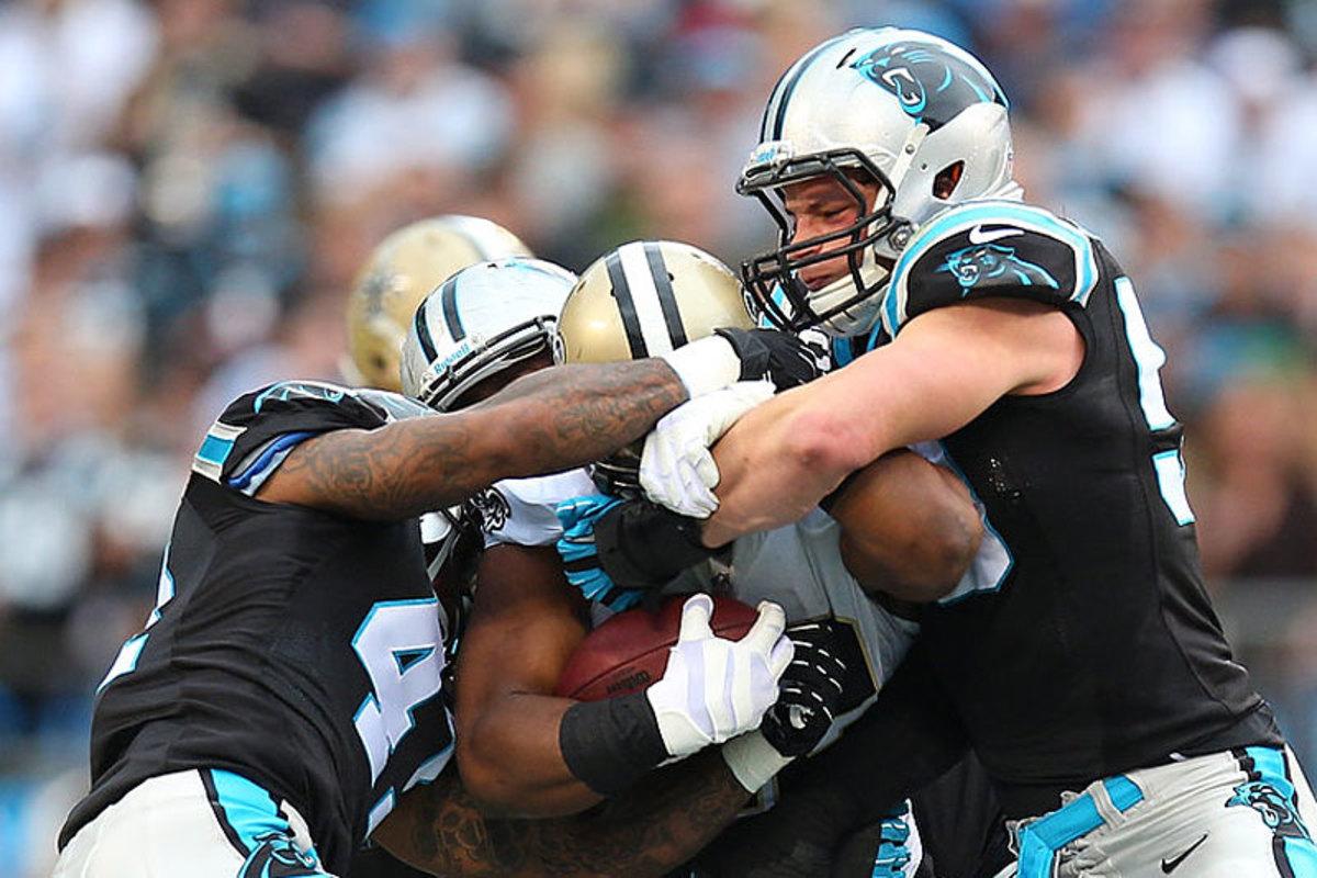 Carolina rides Luke Keuchly and the defense against New Orleans in Week 16. (Chris Keane)