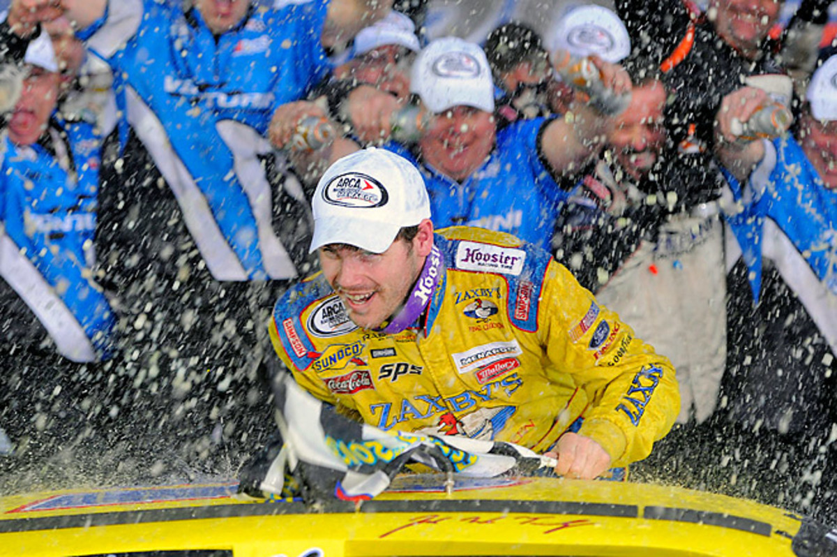 John Wes Townley was all smiles after winning his first ARCA Series race at Daytona International.
