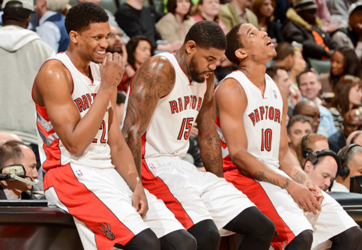 The Raptors are launching a re-branding effort, but are likely to keep their nickname. (Ron Turenne/Getty Images)