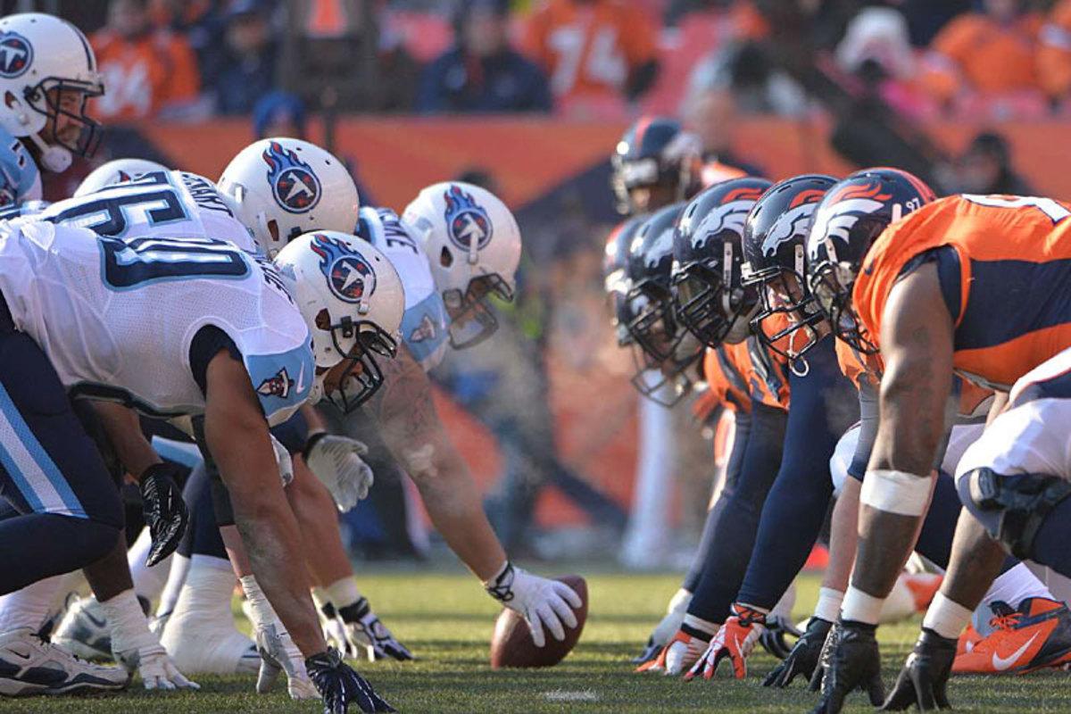 Titans at Broncos, Week 14. (Robert Beck)