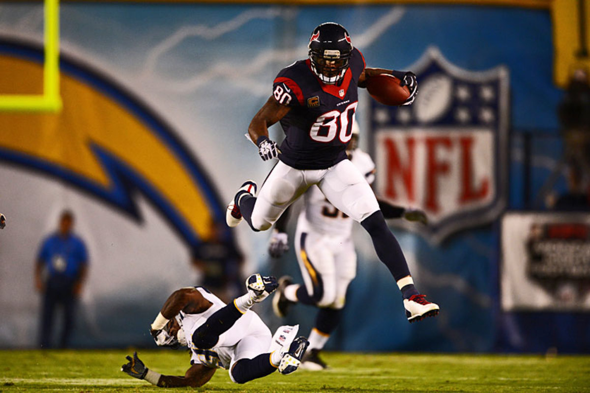 Andre Johnson takes it to the Chargers in Week 1, when Houston's season was filled with promise. (John W. McDonough)