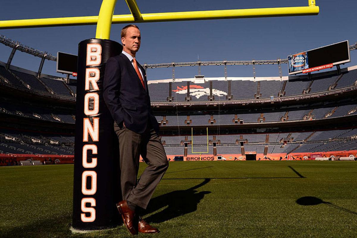 Peyton Manning, at home in Denver. (Robert Beck)