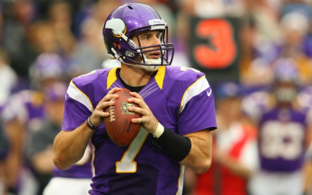 The Vikings will keep Ponder at QB, despite troubles. (Adam Bettcher/Getty Images)