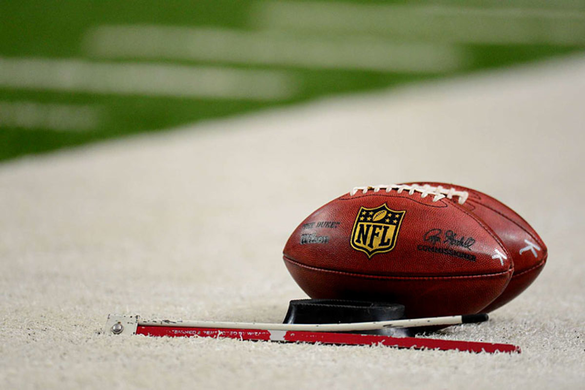 The K balls, used for kicking, Seattle at Atlanta. (Al Tielemans)