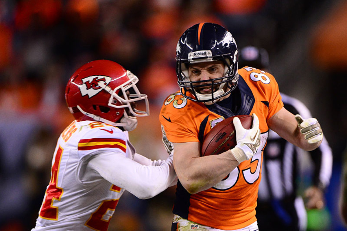 Wes Welker, a new favorite of Manning's, against the Chiefs in Week 11. (Robert Beck)