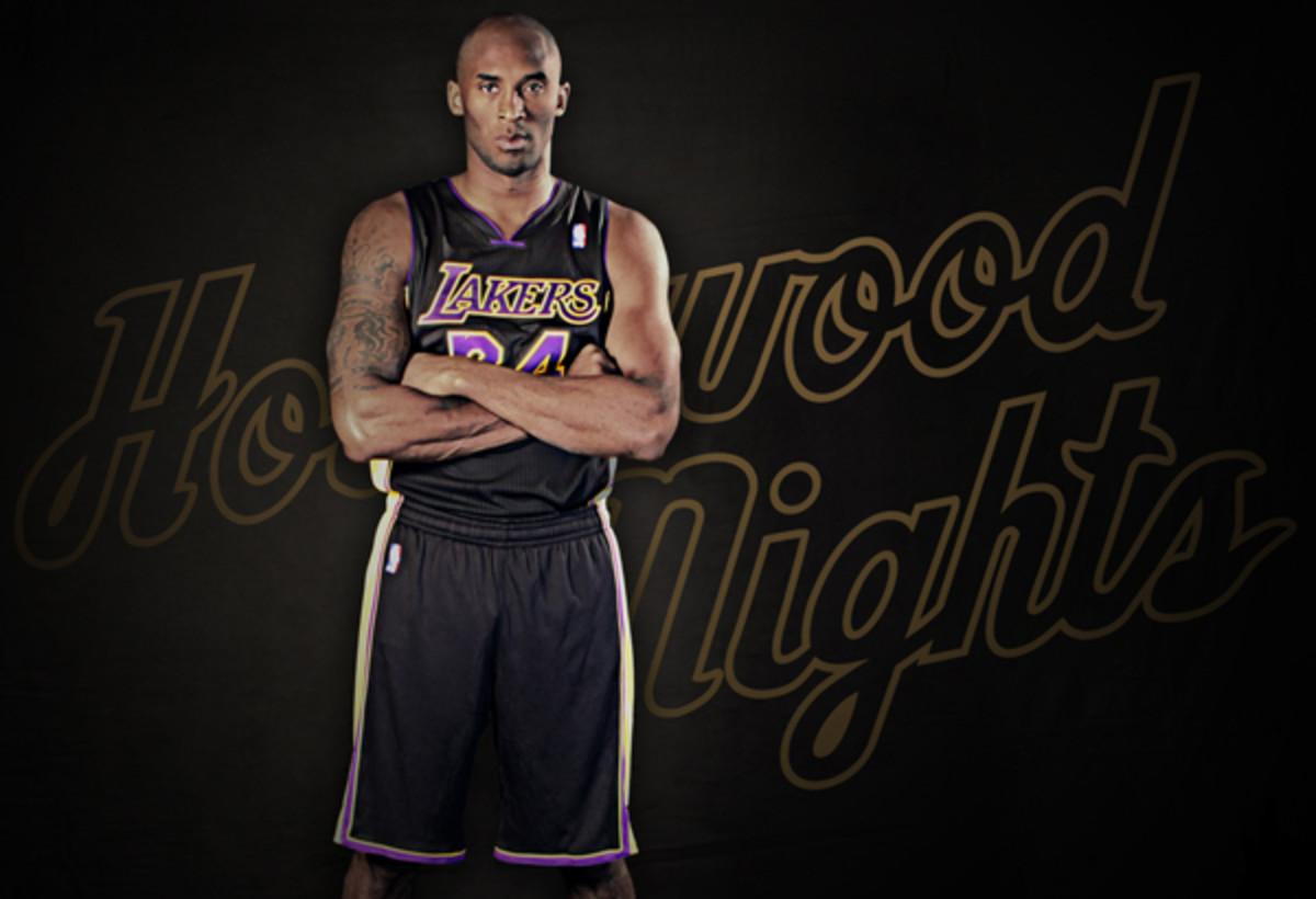 Lakers unveil new black 'Hollywood Nights' alternate jerseys ...