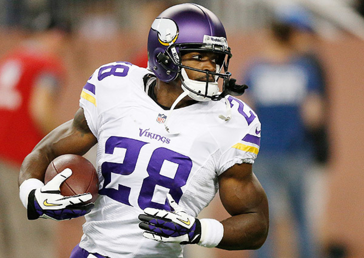 Adrian Peterson rushed for a league-leading 2,097 yards in 2012.