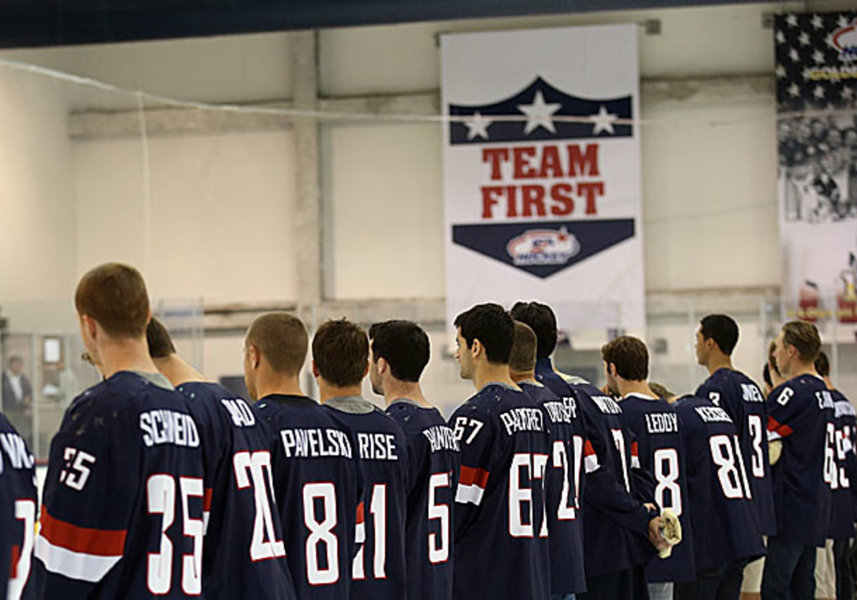 NHL players at USA Hockey Olympic Orientation Camp
