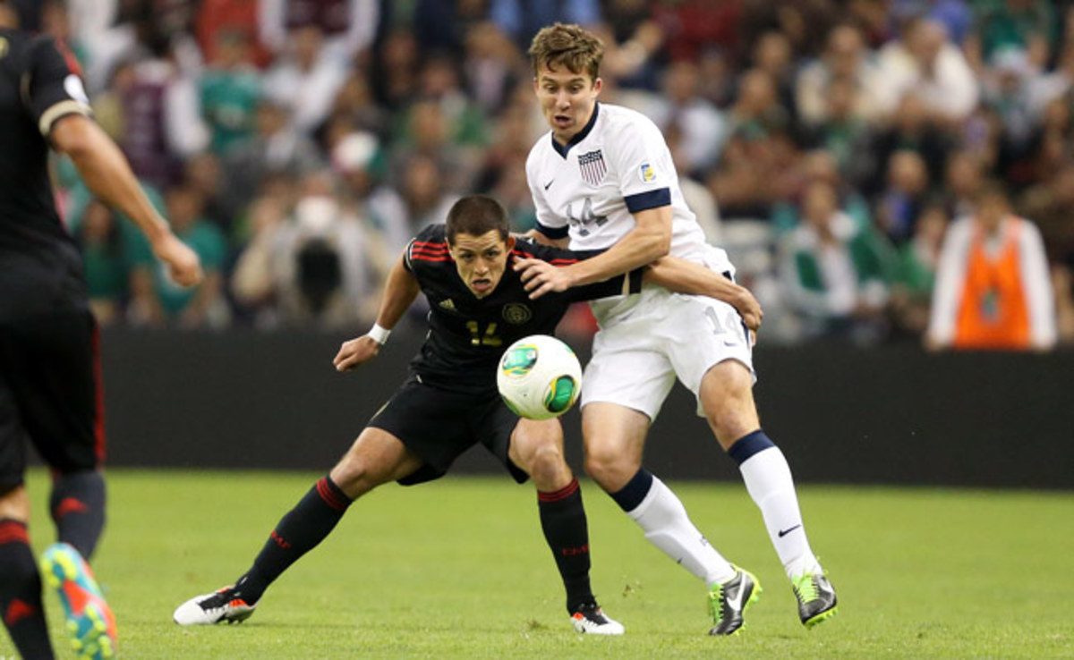 Matt Besler (right) had a breakout performance during a March World Cup qualifier in Mexico City.