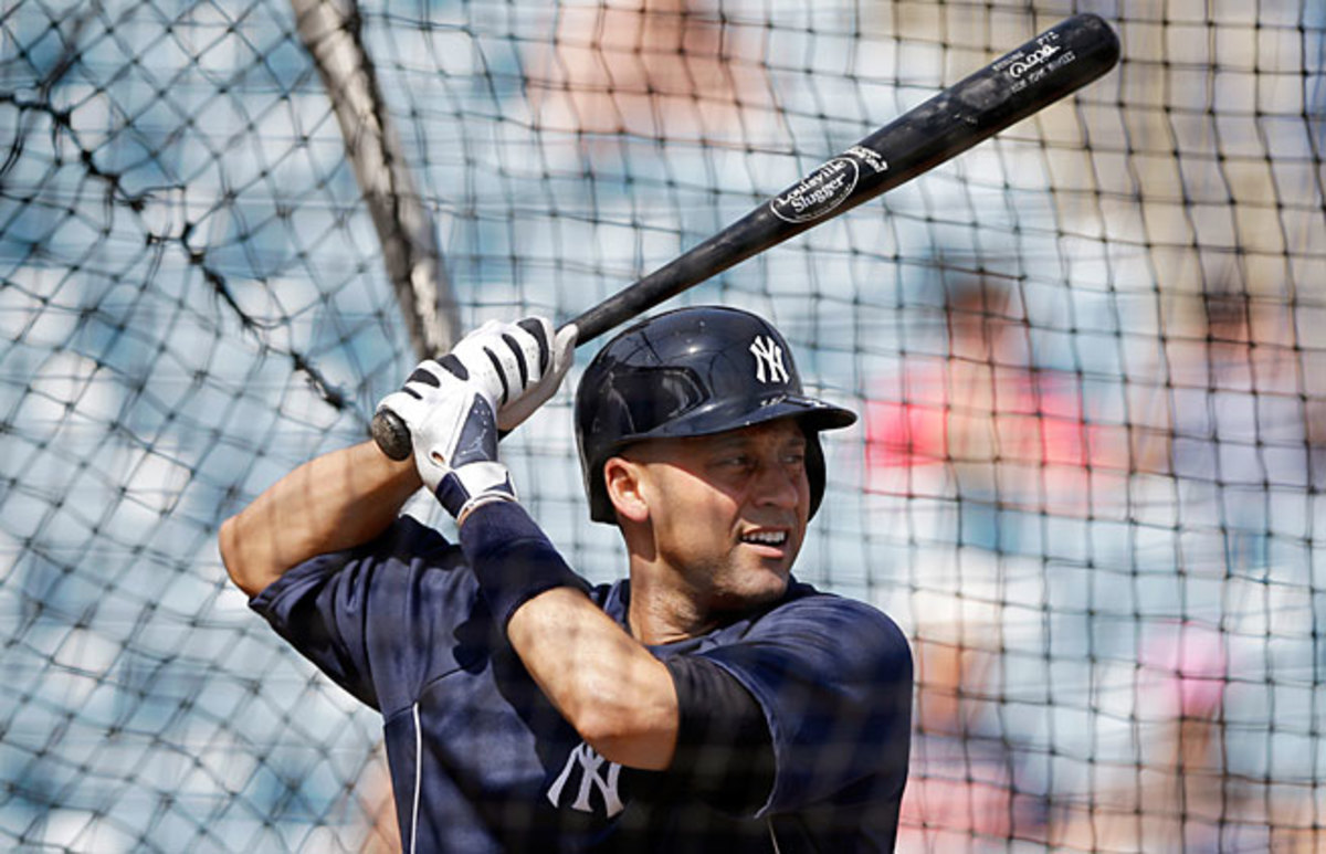 Derek Jeter has yet to play for the Yankees this season as he recovers from a broken ankle.