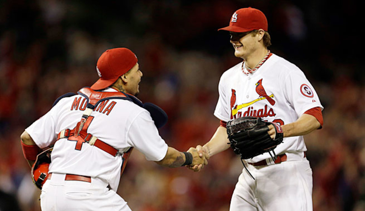 Cardinals rookie star Shelby Miller (right) says he credits all of his success to Molina.