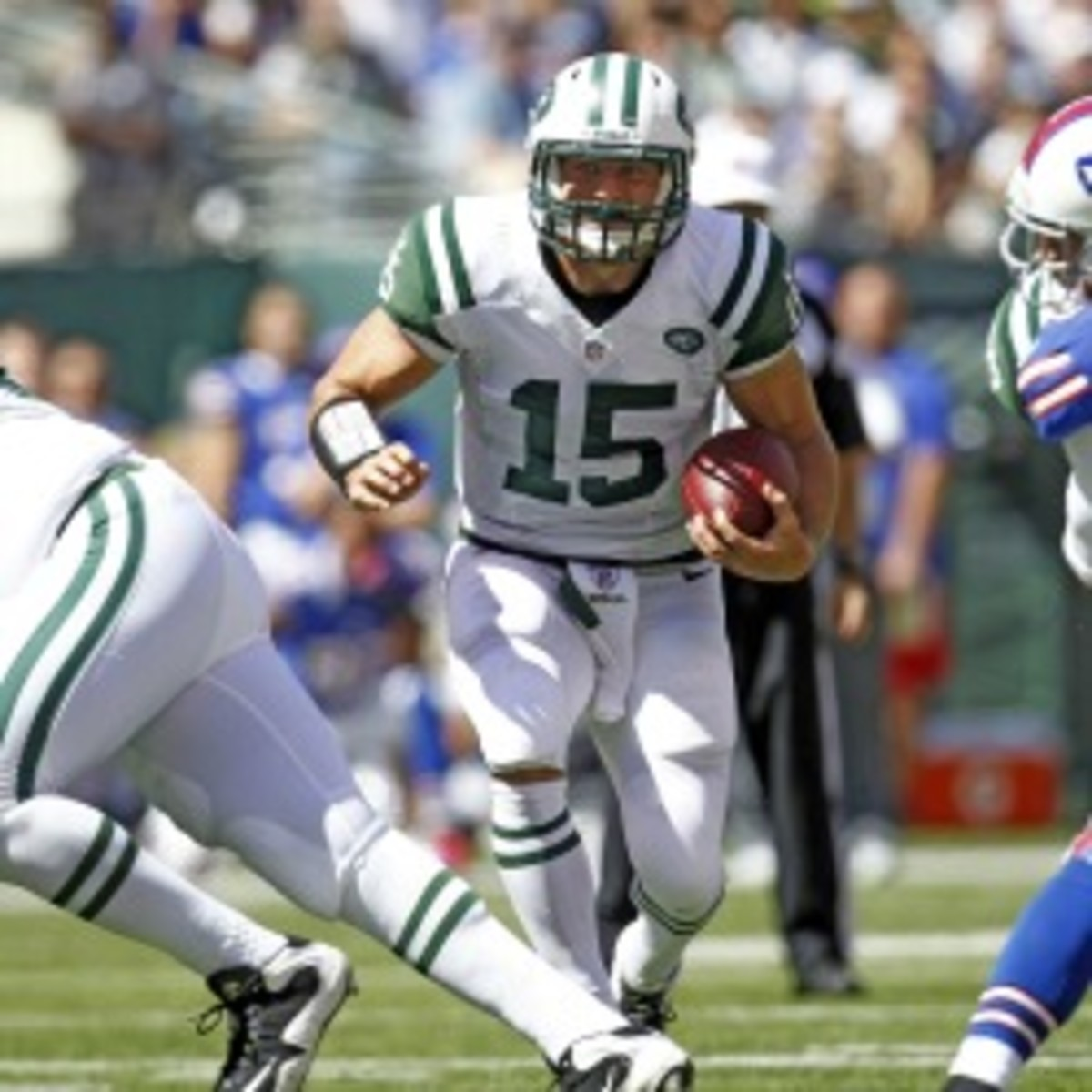 Jets backup quarterback Tim Tebow has a lot of questions concerning his future. Jeff Zelevansky/Getty Images)