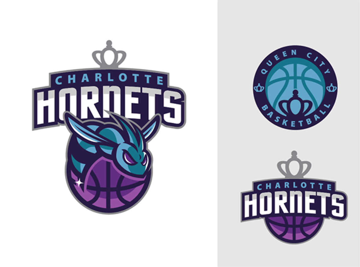 The winning entry in 99designs.com's Charlotte Hornets logo design contest. (Eren G./99designs.com)