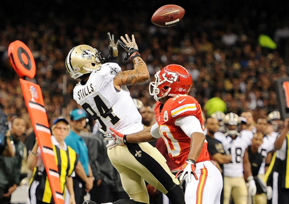 Rookie Kenny Stills will enter the season as the Saints' No. 3 wide receiver.