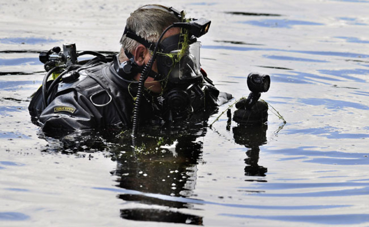 Police started searching Pine Lake in Bristol, Connecticut on Monday.