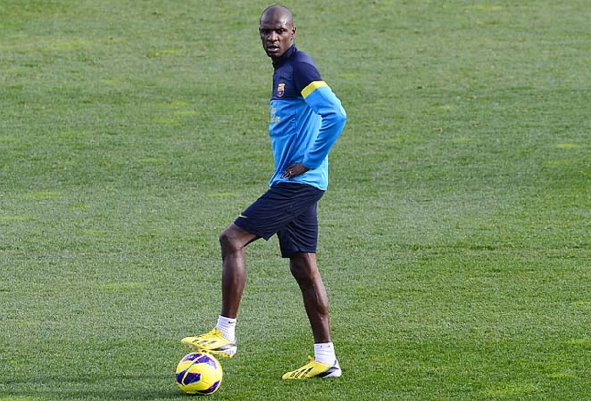 Eric Abidal hasn't played this season but was allowed to start training again in December.