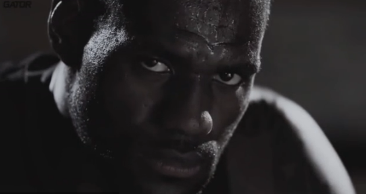 LeBron apparently likes to look angry when doling out generic cliches and life-advice.