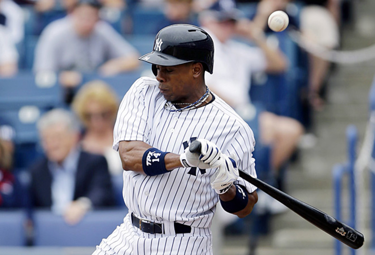 Curtis Granderson broke his arm after being hit by a pitch from Toronto's J.A. Happ.