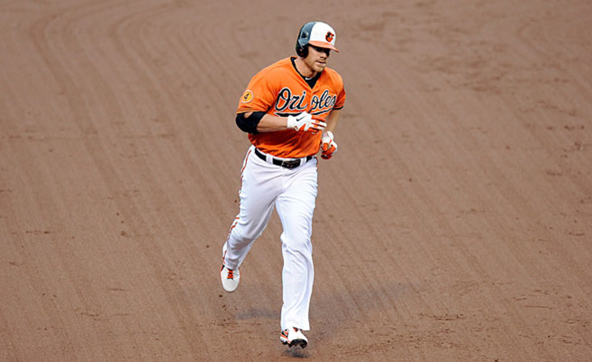 Chris Davis is on another hot streak and now leads the majors in home runs and the AL in OBP.