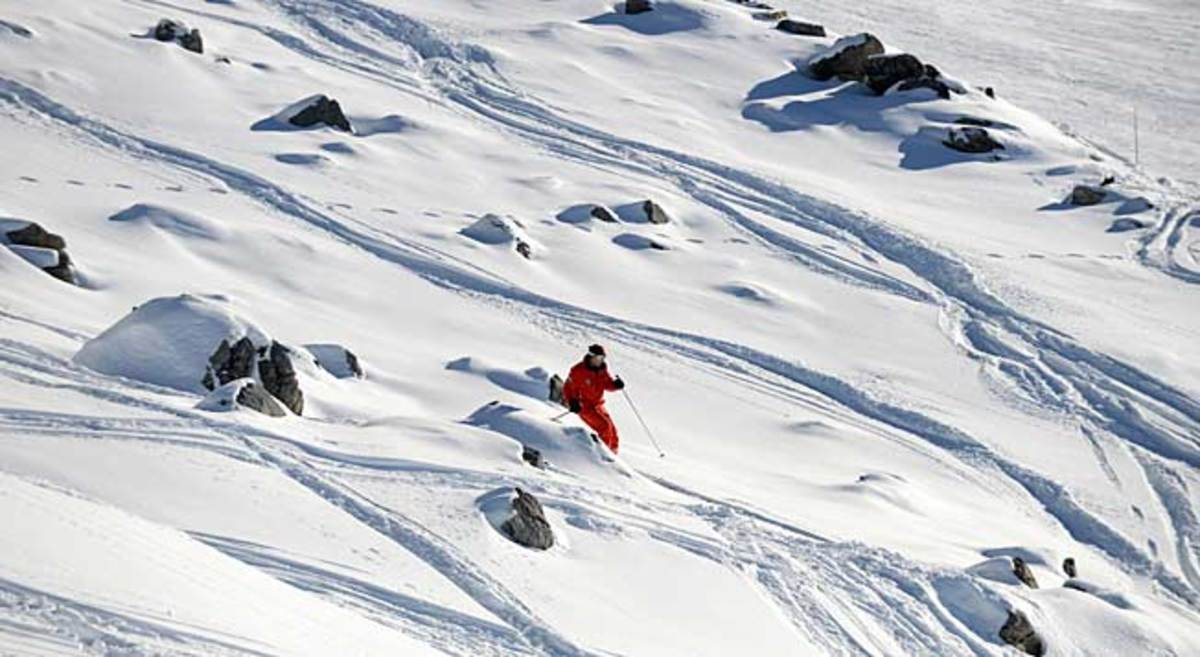 This area at the French Alps resort of Meribel where F1 legend Michael Schumacher had his accident.