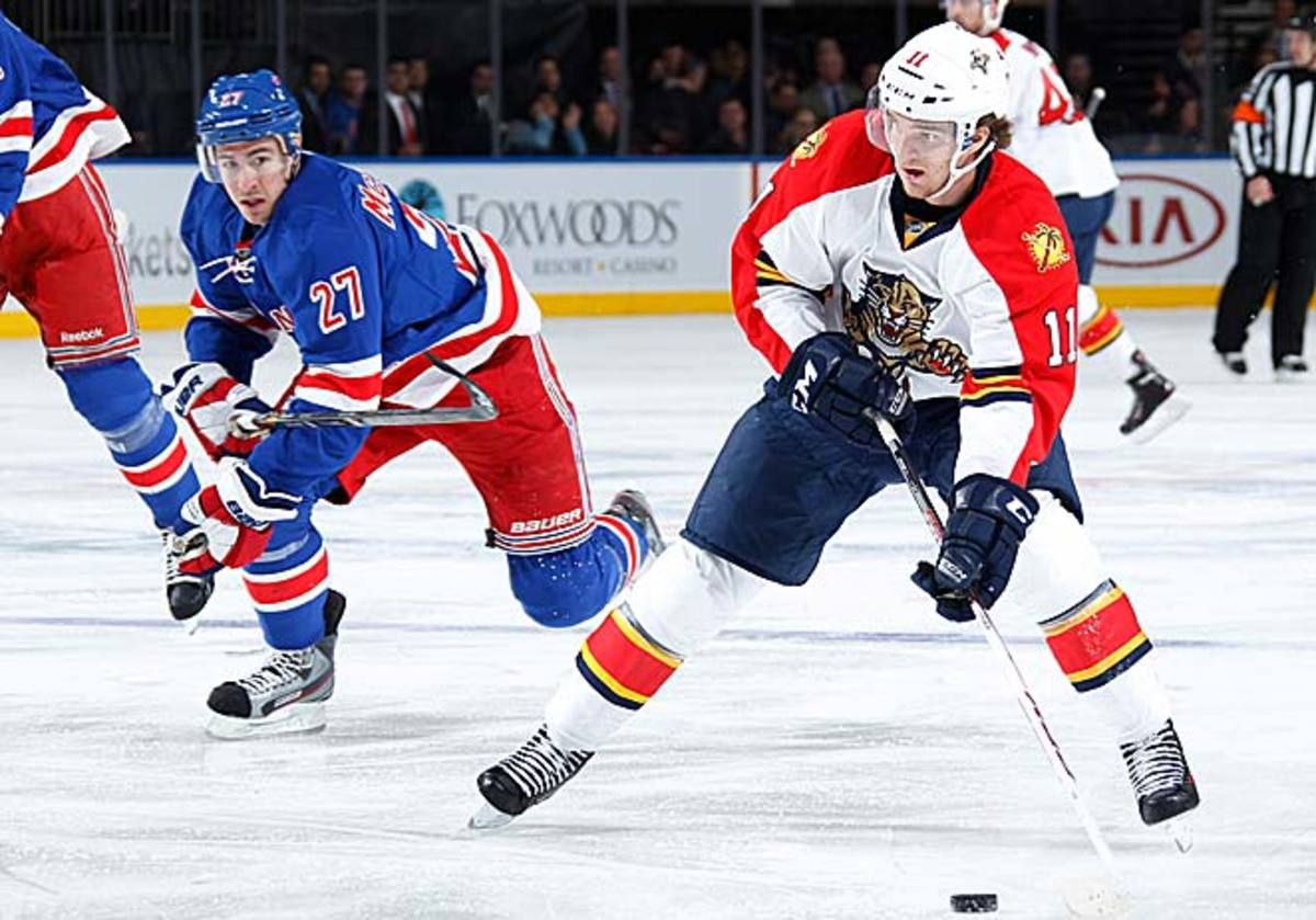 Rookie Jonathan Huberdeau has impressed with his scoring touch and playmaking skills.