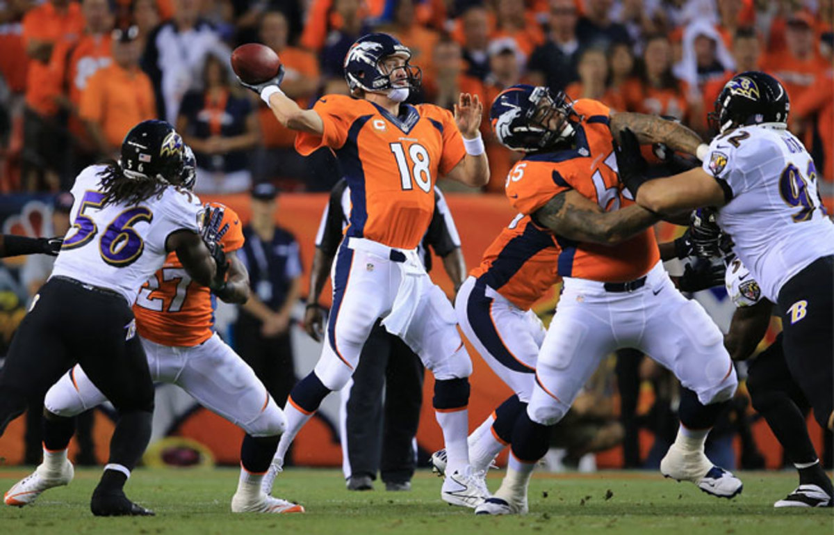 Manning's seven touchdowns erased the memory of his costly interception in the playoffs last season.