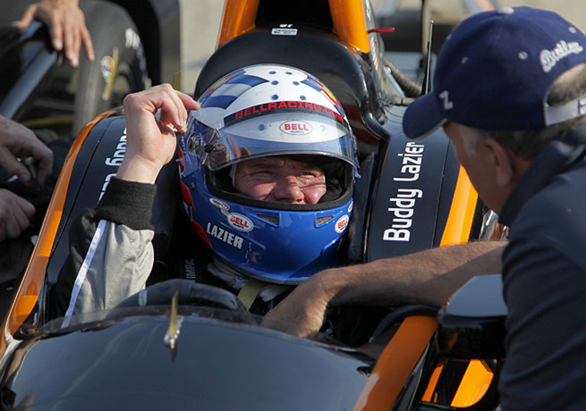 At 45, Buddy Lazier is back at the Indianapolis 500, where he took first place in 1996.