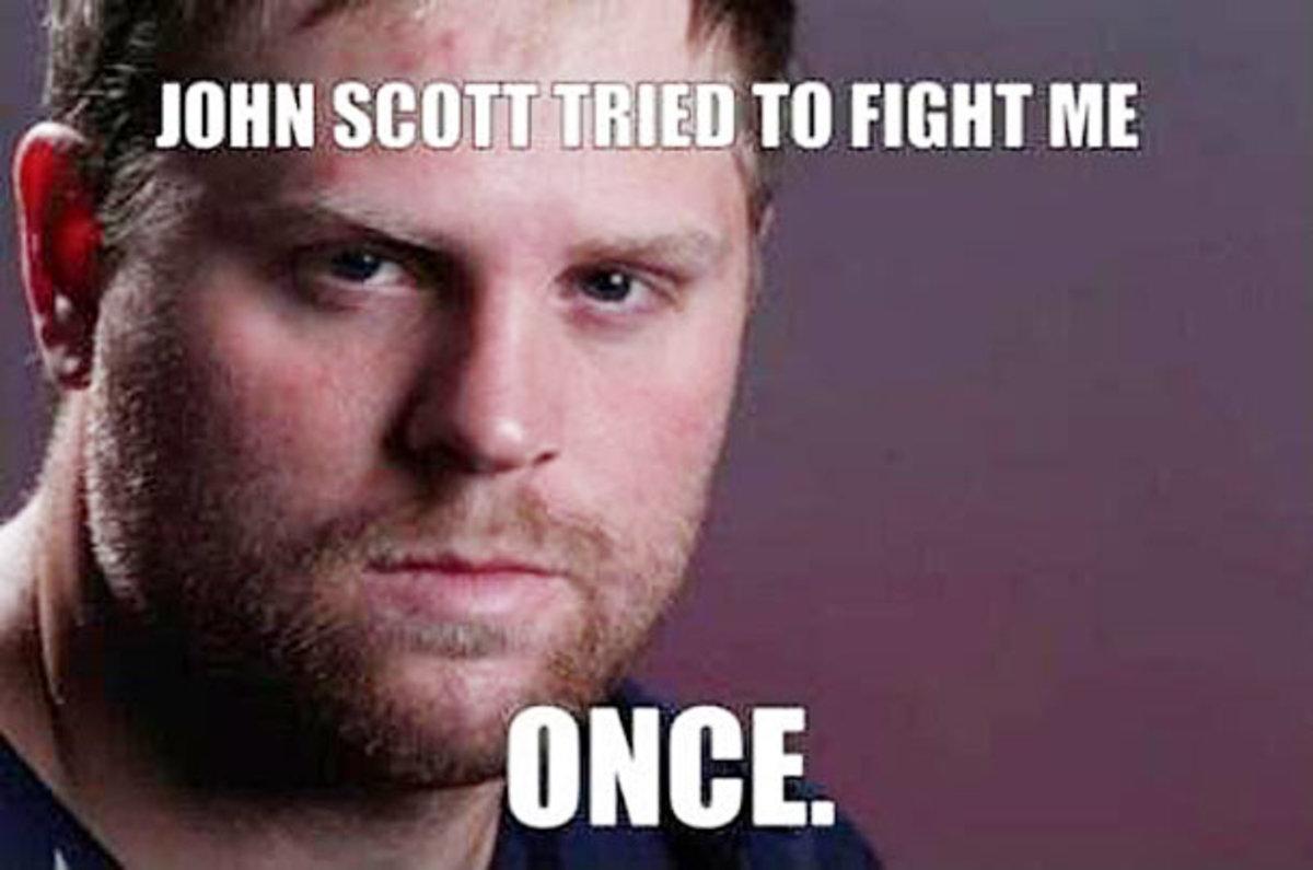 Phil Kessel meme after his brawl with Buffalo's John Scott.