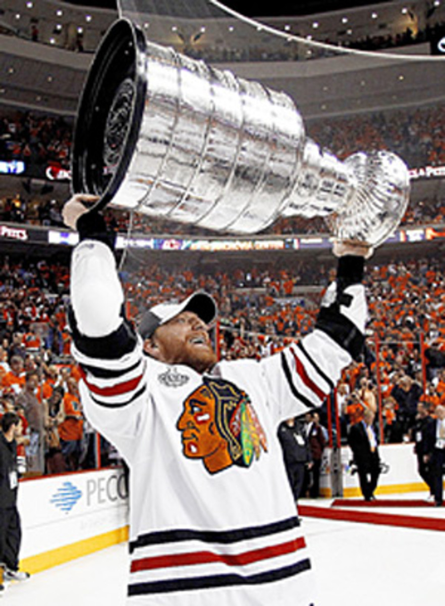 Marian Hossa's quest for the Cup took him to Pittsburgh and Detroit before he finally won it with Chicago in 2010.