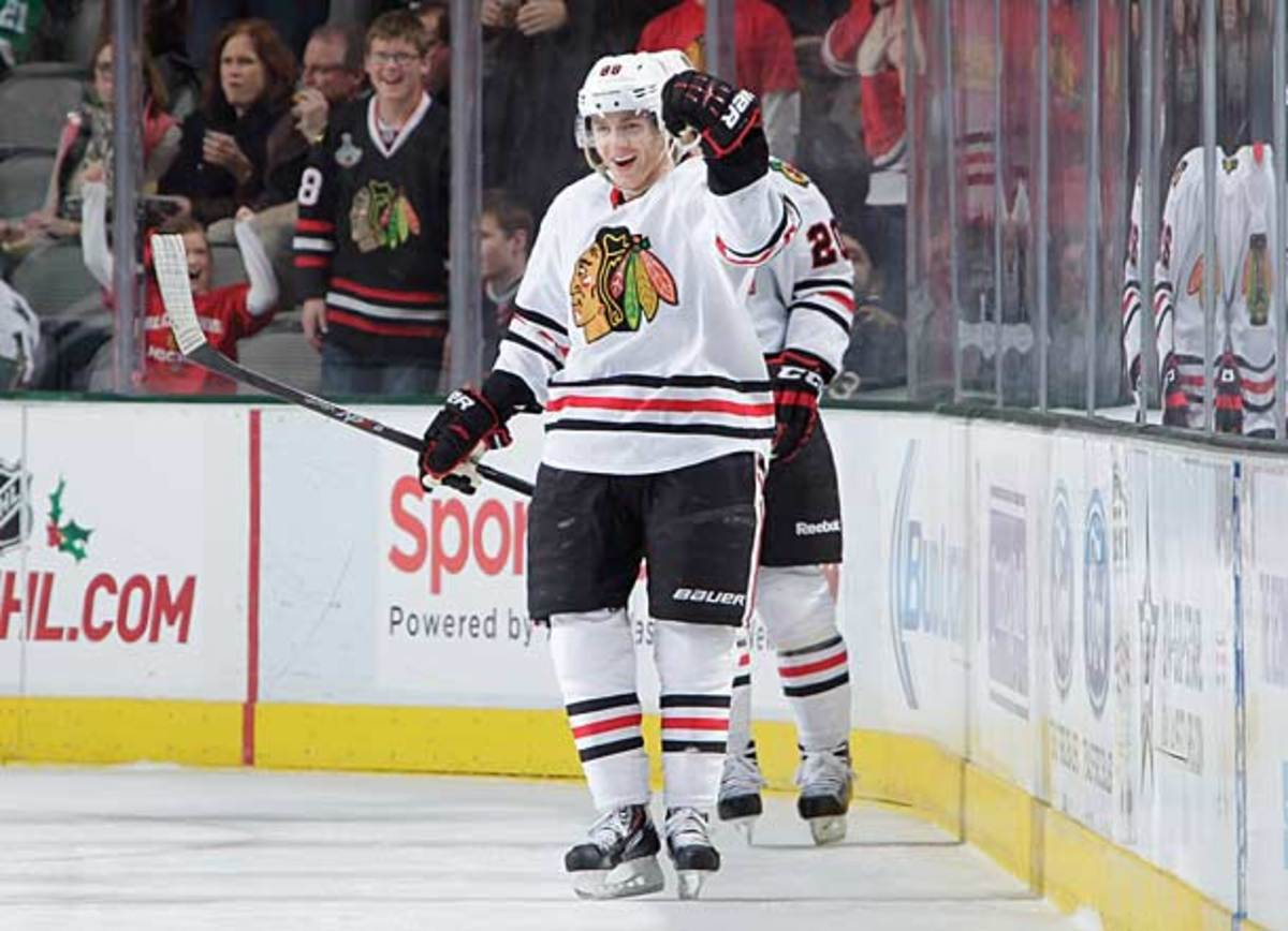 Patrick Kane of the Chicago Blackhawks is a leading candidate for the 2013-14 Hart Trophy