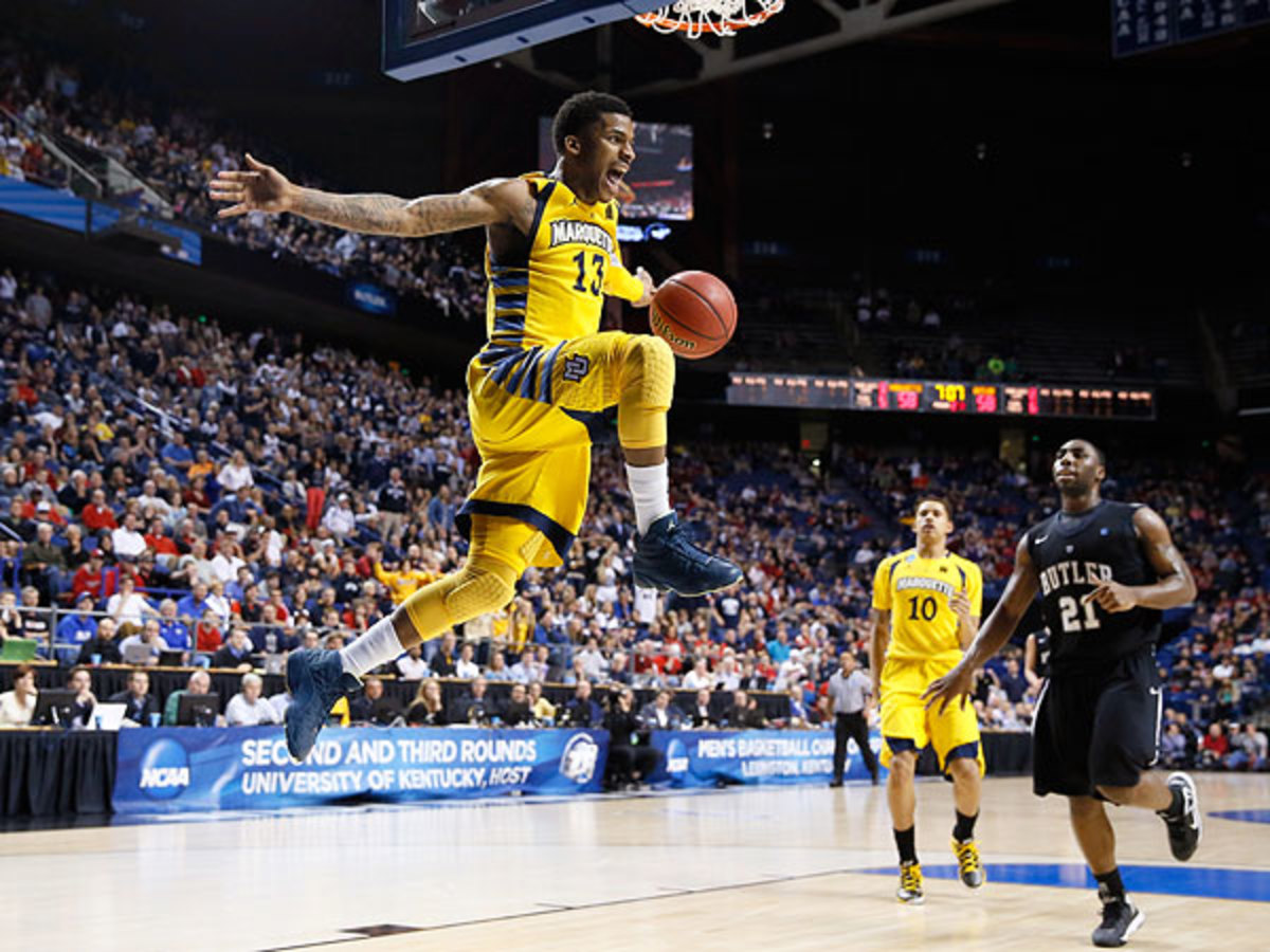 Marquette narrowly escaped with a 74-72 win over Butler Saturday night to advance to the Sweet 16. (Kevin C. Cox/Getty Images)