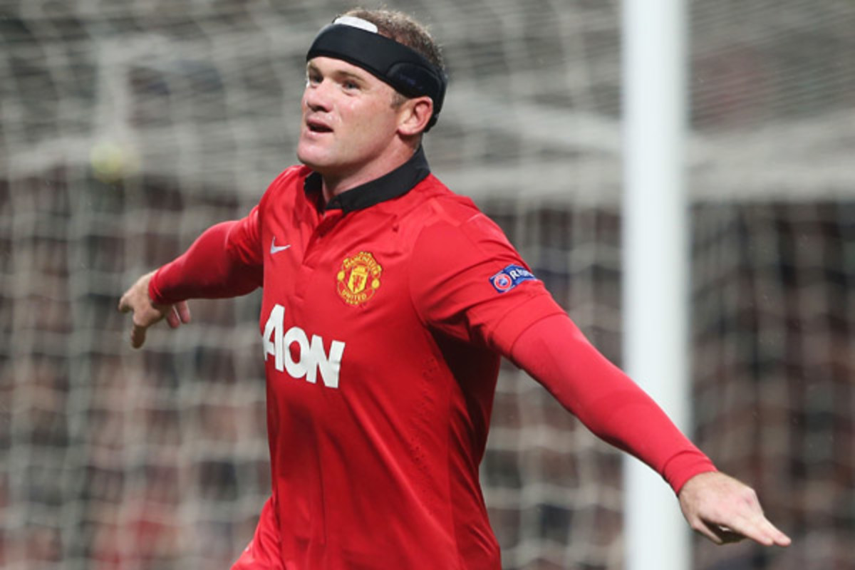 Wayne Rooney has scored three goals since he started wearing headgear on Saturday. (Man Utd via Getty Images)