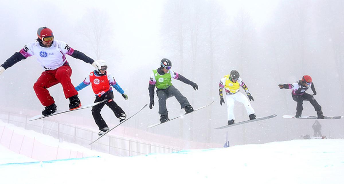 Alex Deibold (center) rode to his first ever World Cup podium in Sochi