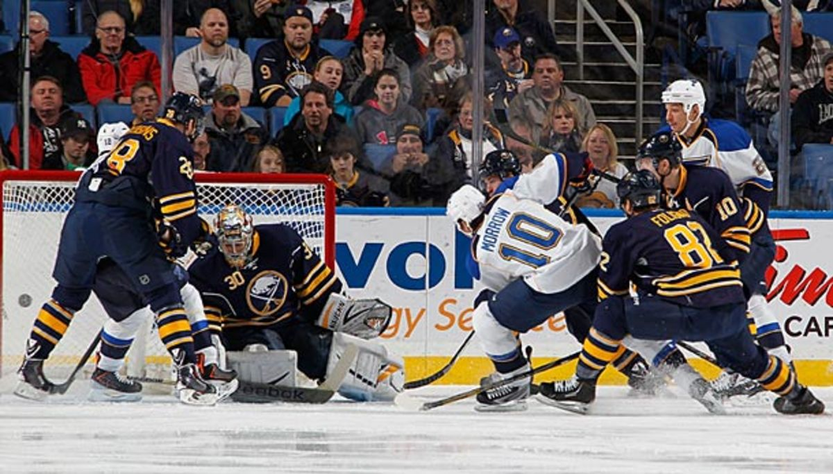 The St. Louis Blues could swing a trade for Sabres goalie Ryan Miller.