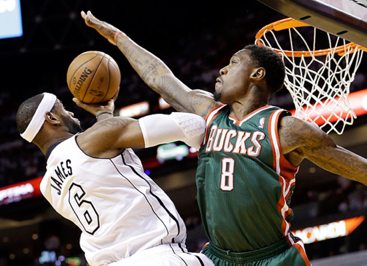 Larry Sanders, No. 2 in blocked shots last season, signed a four-year, $44 million extension in August.