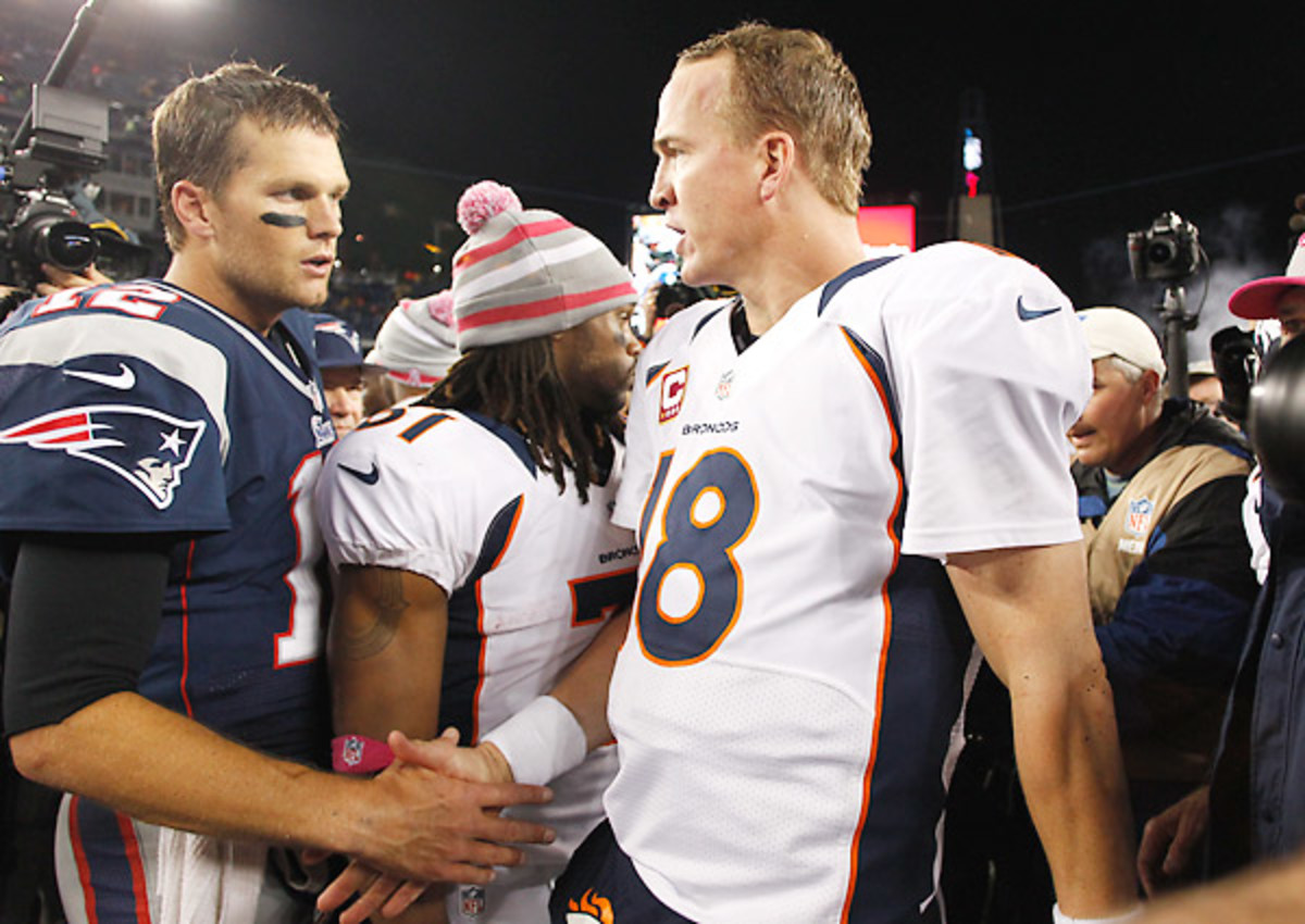 Tom Brady got the best of Peyton Manning's Broncos last year. They'll meet again in Week 12.