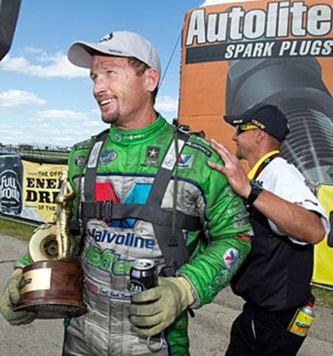 Cancer traatment cost Jack Beckman 30 pounds, but the disease failed to slow his racing career.