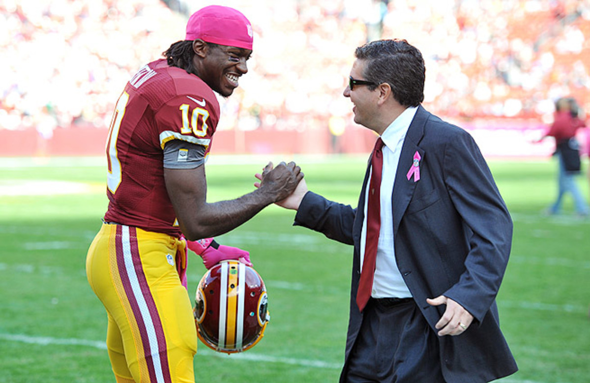 Owner of the Redskins since 1999, Daniel Snyder (right) has been criticized for being too hands on.