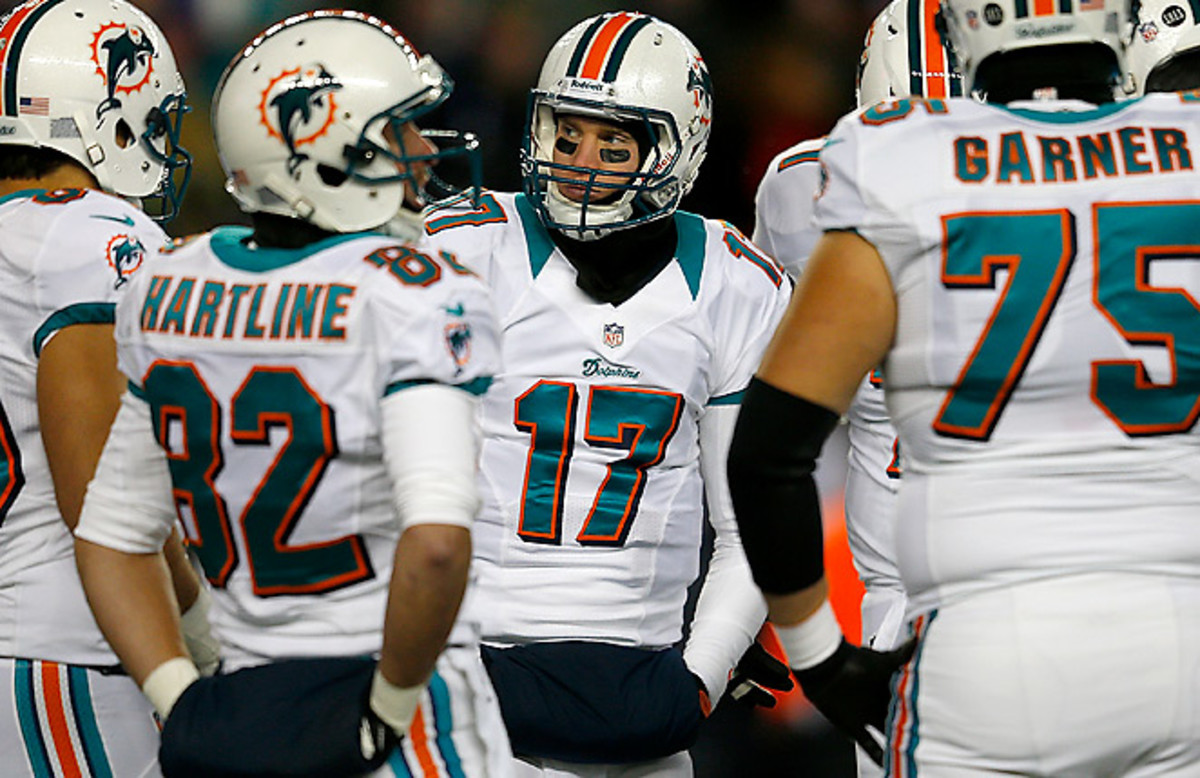 Ryan Tannehill was fifth among regular rookie QBs in rating, but a better supporting cast will help.