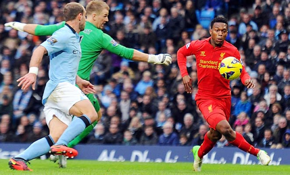 Daniel Sturridge (right) and Liverpool are in ninth place in the Premier League.