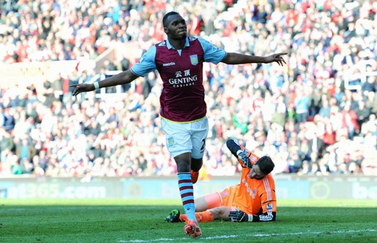 22-year-old striker Christian Benteke scored 19 goals for Aston Villa last season.