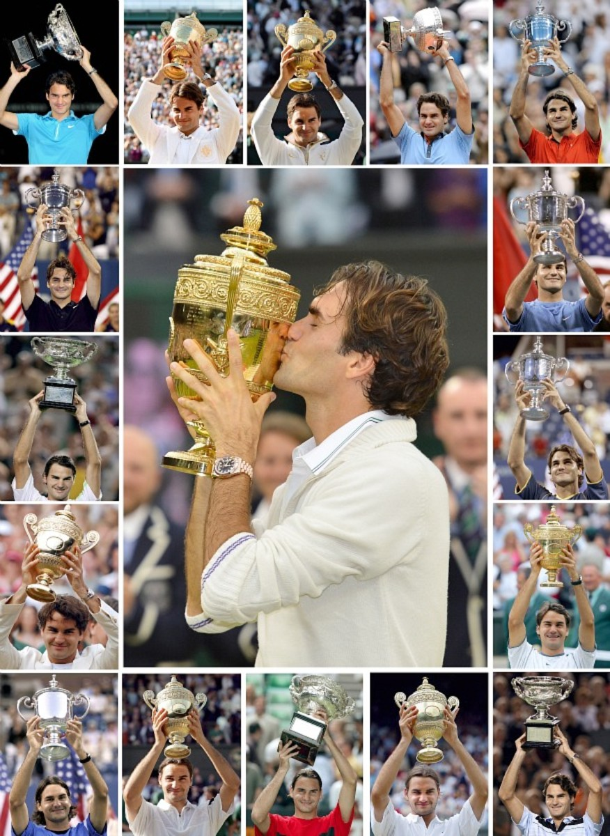 Roger's 17 Slams. (AFP/Getty Images)