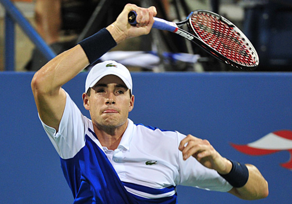 John Isner struggled to win over the New York crowd in his win over Gael Monfils at the U.S. Open. (Stan Honda/AFP/Getty Images)