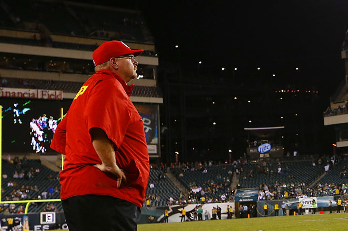 Andy Reid returned to Philly, where he spent 14 NFL seasons, for the first time since he was fired.