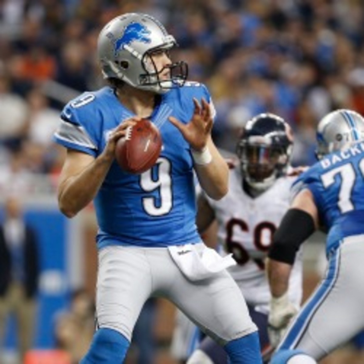 The Lions and quarterback Matthew Stafford have reportedly started contract extension talks. (Gregory Shamus/Getty Images)