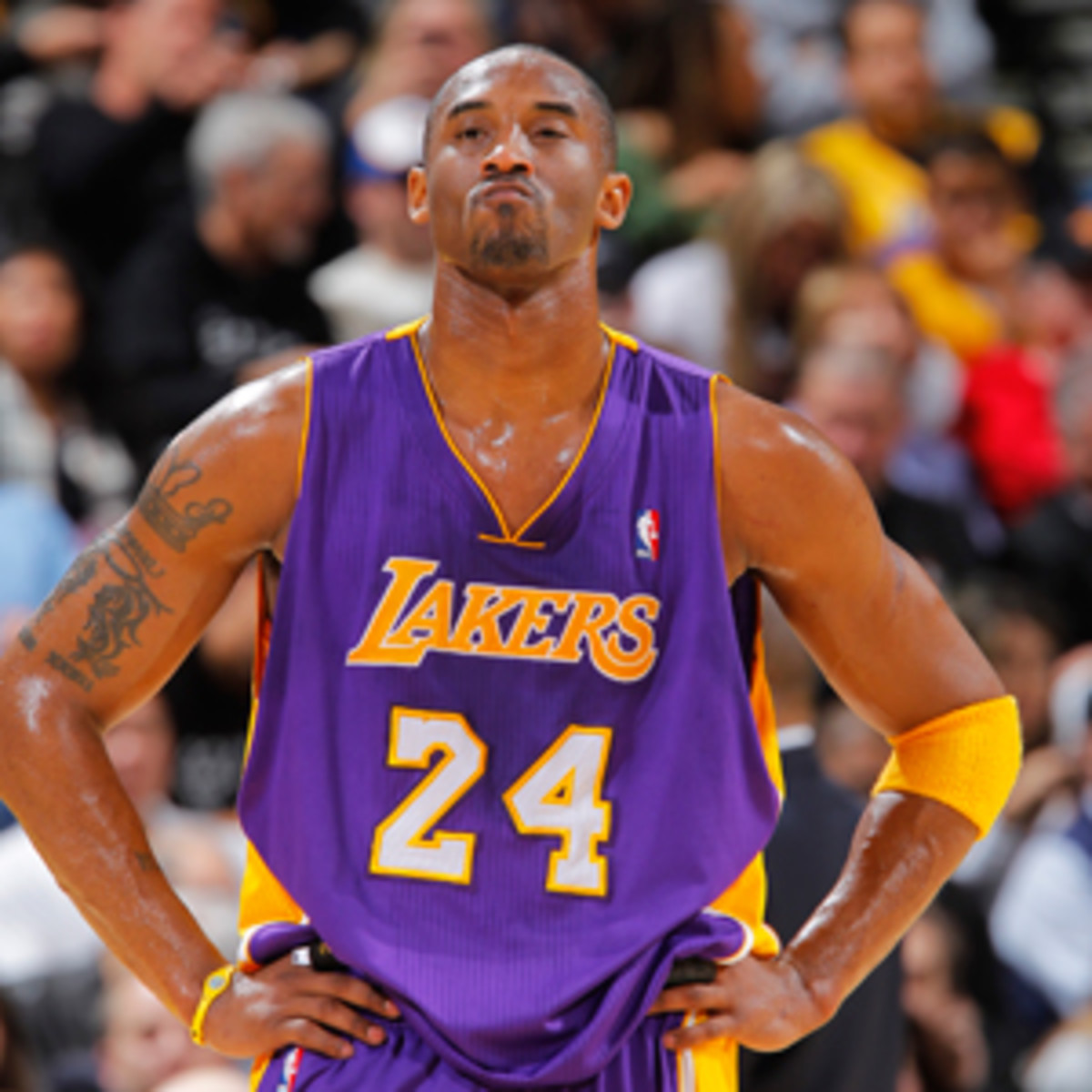 Kobe Bryant has expressed frustration with the Lakers' unexpectedly poor play. (Rocky Widner/NBAE via Getty Images)